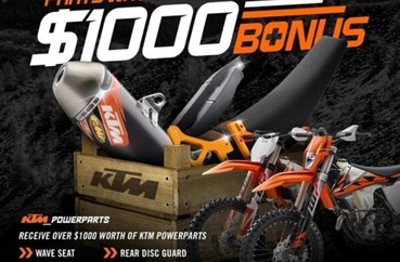 Free Power Parts KTM EXC-F and KTM EXC Range - Moto Adelaide - Honda, BMW, KTM, Husqvarna motorcycles